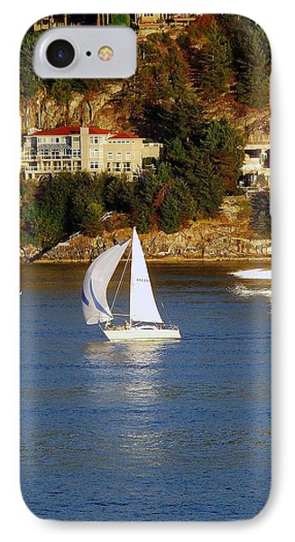 Sailboat In Vancouver IPhone Case by Robert Meanor