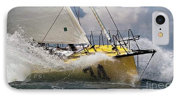 Sailboat Le Pingouin Open 60 Charging  IPhone Case by Dustin K Ryan
