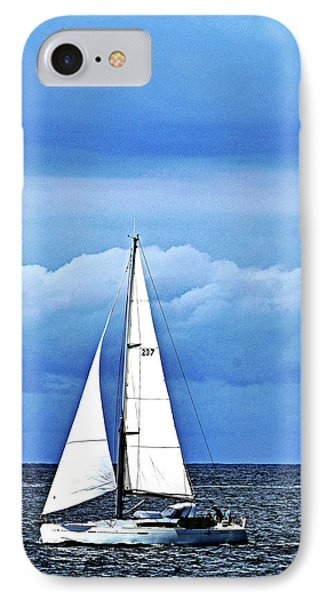 Sailboat No. 143-1 IPhone Case by Sandy Taylor
