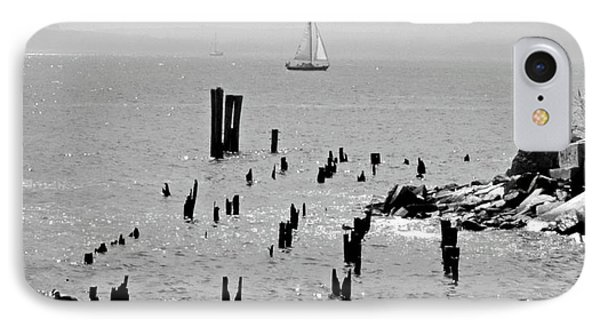 Sailboat Off City Island, New York No. 1-1 IPhone Case by Sandy Taylor