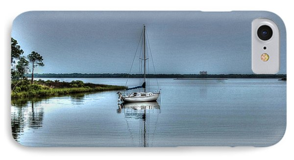 Sailboat Off Plash IPhone Case by Michael Thomas