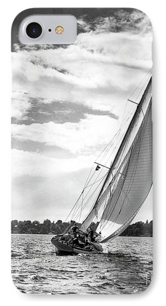 Sailboat Off Shore IPhone Case by Ewing Galloway