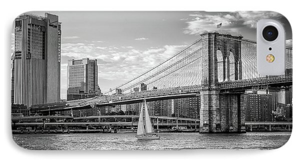 Sailboat On The East River IPhone Case by Frank Mari