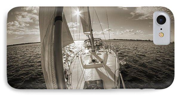 Sailboat Sailing Charleston South Carolina IPhone Case by Dustin K Ryan