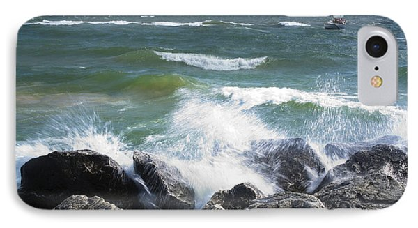Sailboat Sailing Off The Shore At Ottawa Beach State Park IPhone Case