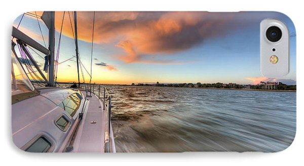 Sailboat Sunset Charleston Battery IPhone Case by Dustin K Ryan