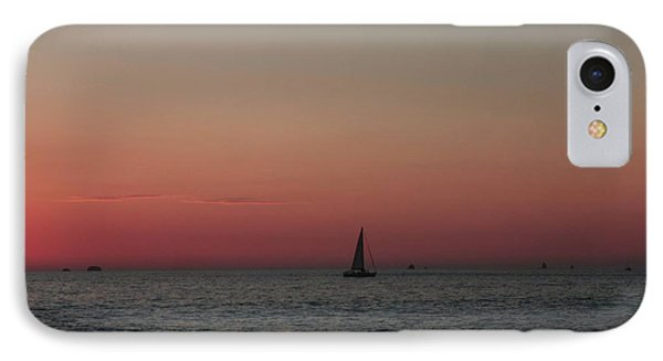 IPhone Case featuring the photograph Sailboat Sunset Sky by Ellen O'Reilly