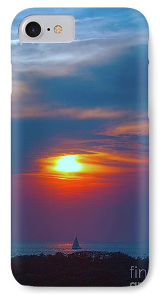 Sailboat Sunset IPhone Case by Todd Breitling