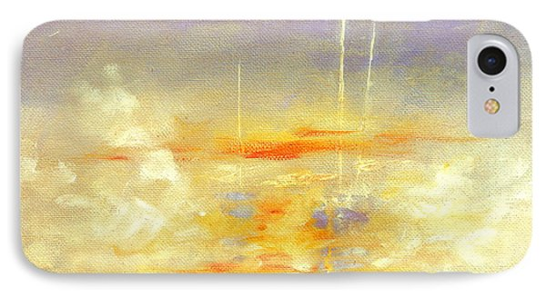 Sailboats At Dawn IPhone Case