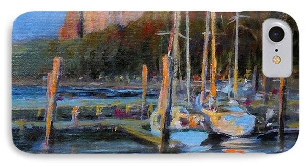 Sailboats At Dusk, Hudson River Phone Case by Peter Salwen