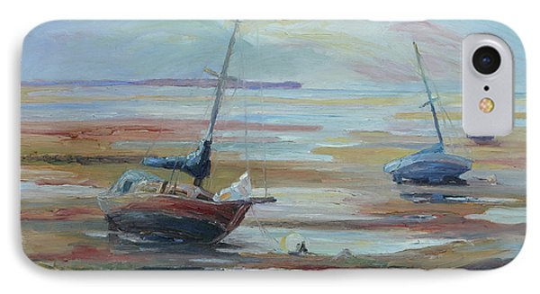 Sailboats At Low Tide Near Nelson, New Zealand Phone Case by Barbara Pommerenke