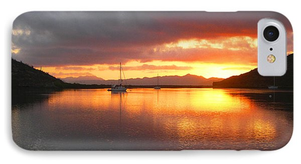 Sailboats At Sunrise In Puerto Escondido IPhone Case by Anne Mott