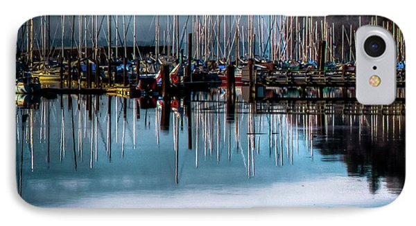 Sailboats At Sunset IPhone 7 Case by David Patterson