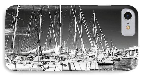 Sailboats Docked Phone Case by John Rizzuto