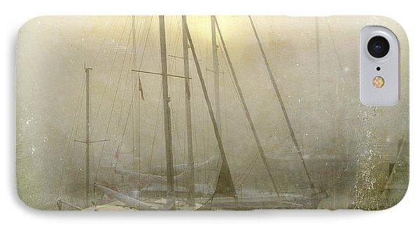 Boat iPhone 7 Case - Sailboats In Honfleur. Normandy. France by Bernard Jaubert