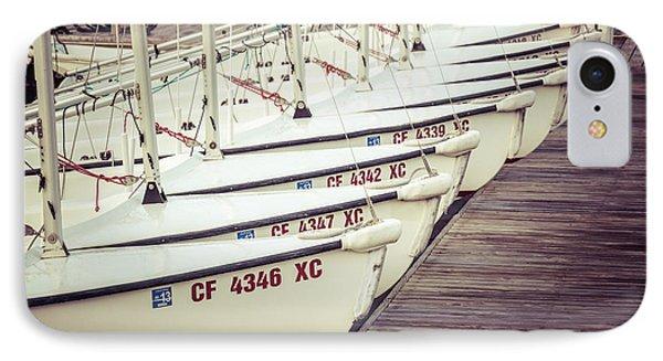 Sailboats In Newport Beach Retro Picture IPhone Case