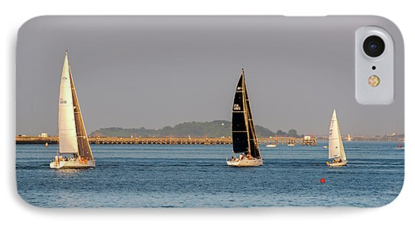 Sailboats On The Boston Harbor Boston Harbor Islands IPhone Case by Toby McGuire
