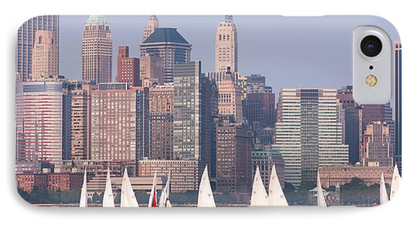 Sailboats On The Hudson II Phone Case by Clarence Holmes