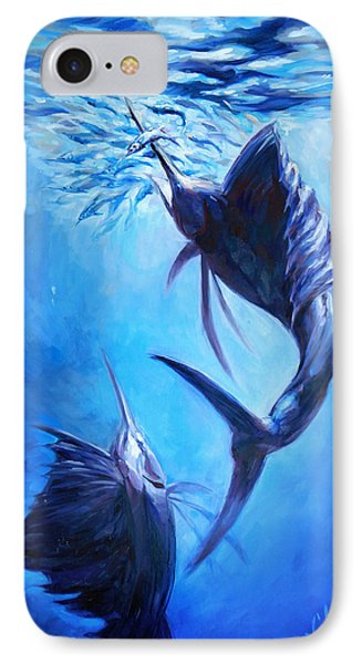 Sailfish And Ballyhoo Phone Case by Tom Dauria