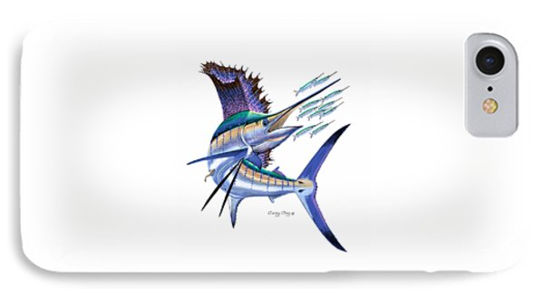Sailfish Digital IPhone Case by Carey Chen