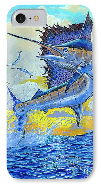 Sailfish Sunset IPhone Case by Carey Chen