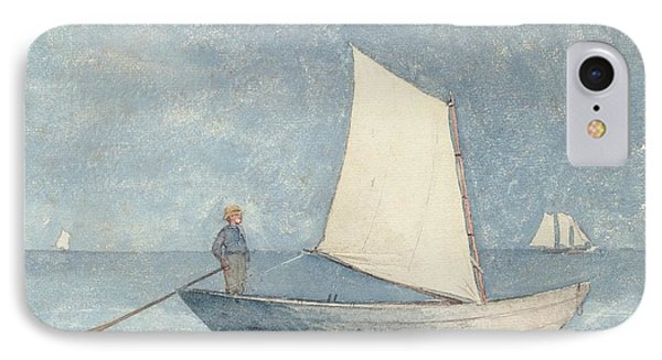 Sailing A Dory IPhone Case by Winslow Homer
