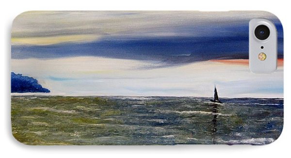Sailing At Dusk Phone Case by Marilyn  McNish