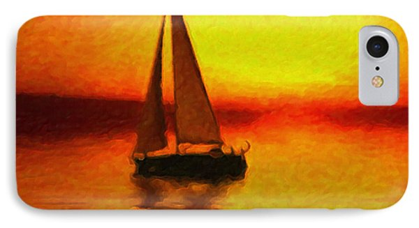 Sailing At Sunset Phone Case by Anthony Caruso