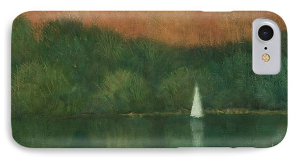 Sailing At Trelissick IPhone Case by Steve Mitchell