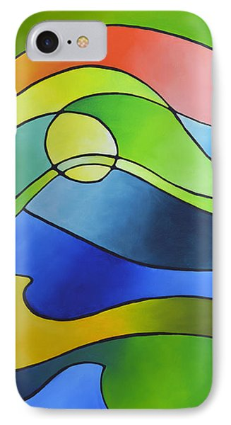 Sailing Away, Canvas Three IPhone Case by Sally Trace