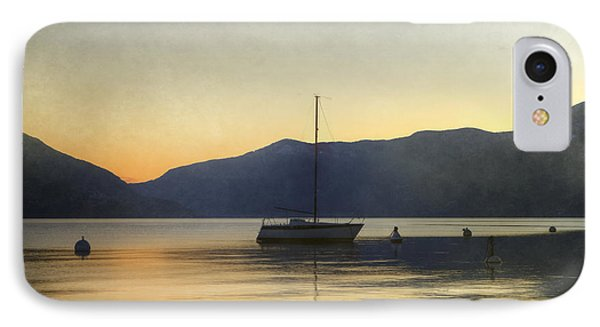 Sailing Boat In The Sunset Phone Case by Joana Kruse