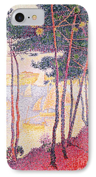 Sailing Boats And Pine Trees IPhone Case