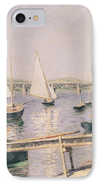 Sailing Boats At Argenteuil Phone Case by Gustave Caillebotte