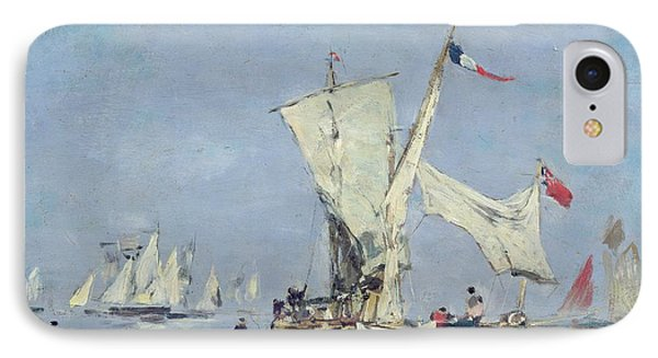 Sailing Boats Phone Case by Eugene Louis Boudin