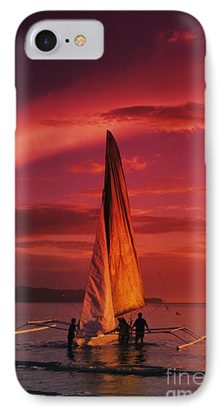 Sailing, Boracay Island Phone Case by William Waterfall - Printscapes