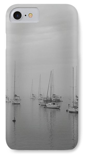 Sailing Bw IPhone Case by Silvia Bruno