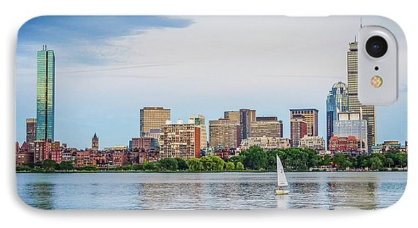 Sailing In Back Bay IPhone Case by Mike Ste Marie