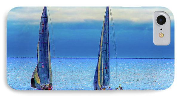 Sailing In The Blue IPhone Case by Joseph Hollingsworth