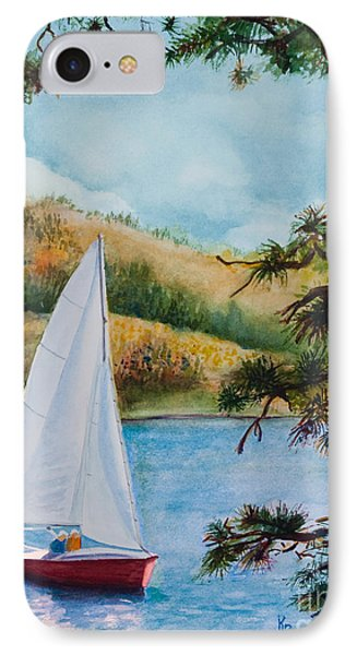 IPhone Case featuring the painting Sailing by Karen Fleschler
