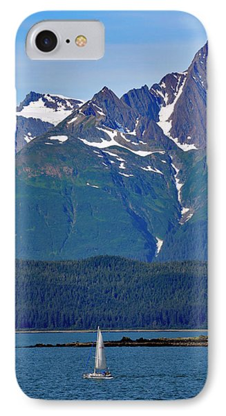 Sailing Lynn Canal IPhone Case by Cathy Mahnke