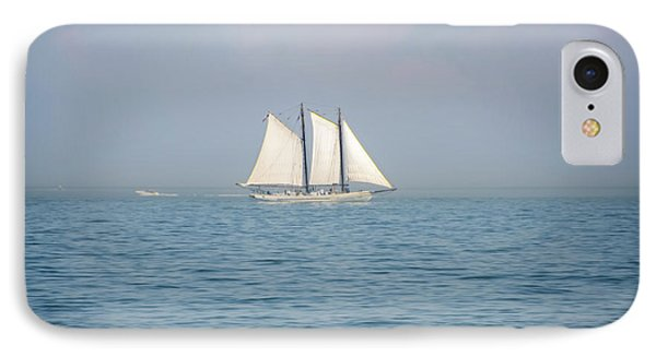 Sailing Off Of Cape May IPhone Case by Bill Cannon