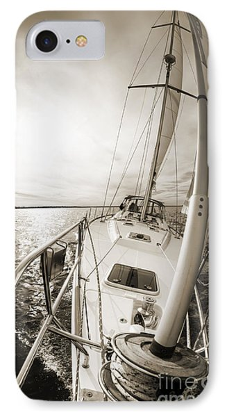 Sailing On A Beneteau 49 Sailboat IPhone Case by Dustin K Ryan