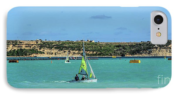 Sailing On A Sunny Day IPhone Case by Stephan Grixti