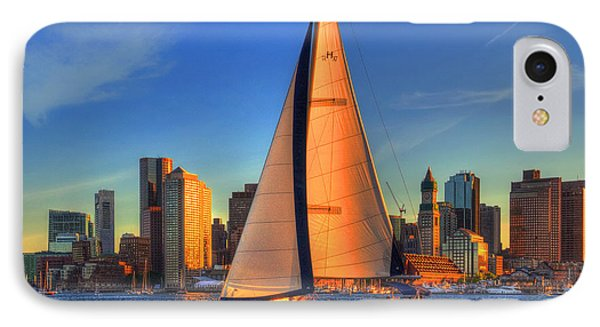 Sailing On Boston Harbor IPhone Case