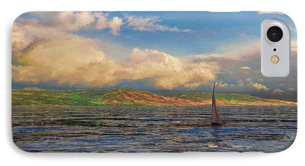 Sailing On Galilee IPhone Case by Dave Luebbert