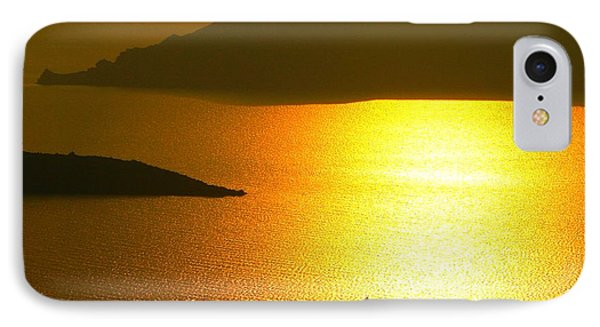 IPhone Case featuring the photograph Sailing On Gold 1 by Ana Maria Edulescu