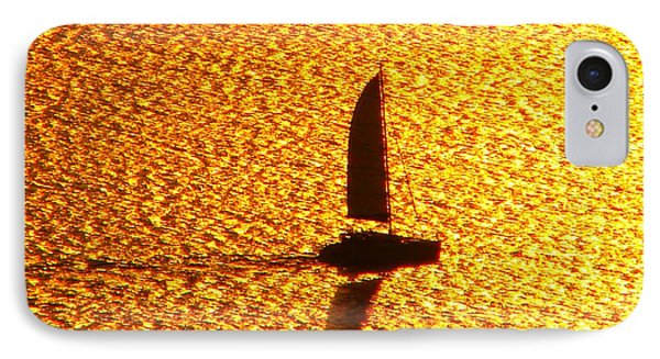 IPhone Case featuring the photograph Sailing On Gold by Ana Maria Edulescu