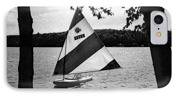 Sailing On Lake Dunmore No. 1-1 IPhone Case by Sandy Taylor
