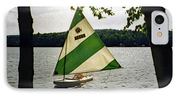 Sailing On Lake Dunmore No. 1 IPhone Case by Sandy Taylor