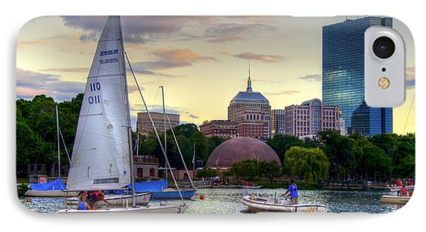 Sailing On The Charles River - Boston IPhone Case by Joann Vitali